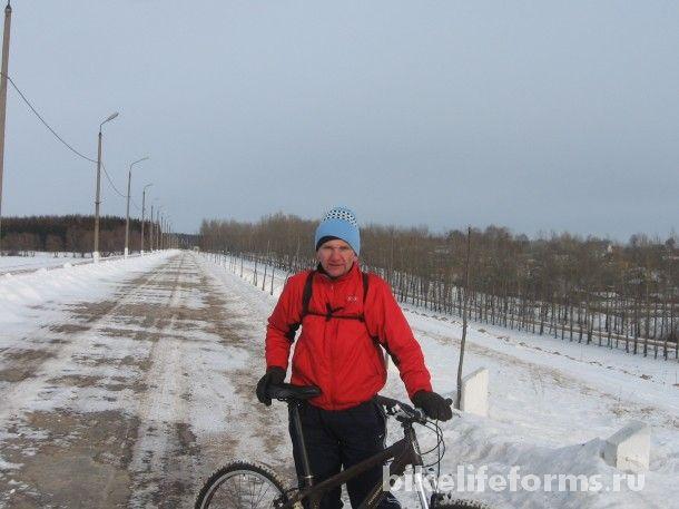Зимняя велопрогулка Уваровка-Можайск