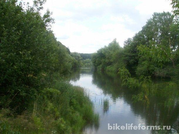 Велосипедная поездка вдоль берегов реки. Осетр
