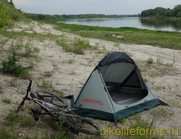 велосипед и палатка Ferrino MTB 2