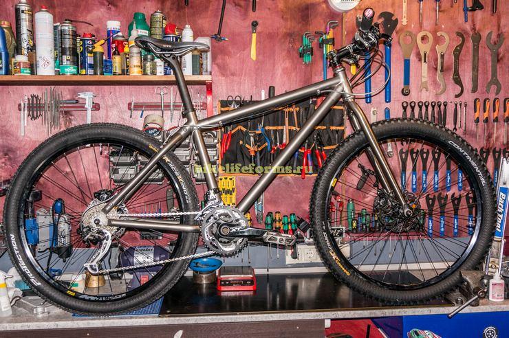 Титановый велосипед на заказ