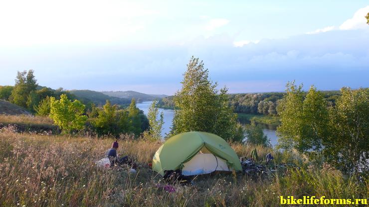 Видовая ночевка над рекой Дон.