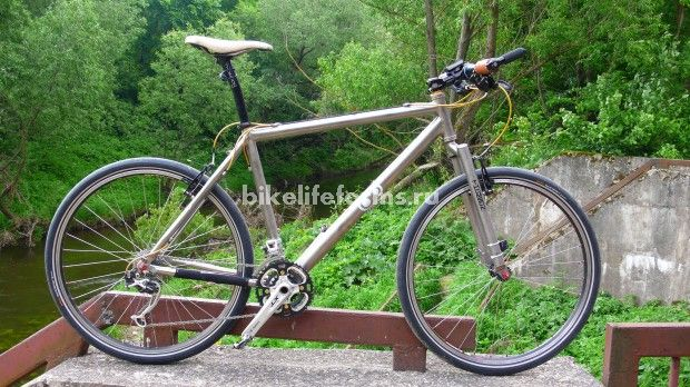 титановый велосипед, вариант для шоссе