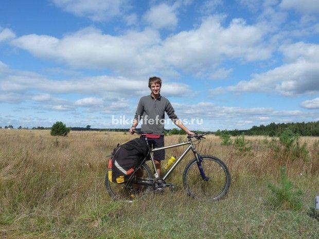 титановый велосипед в походе выходного дня