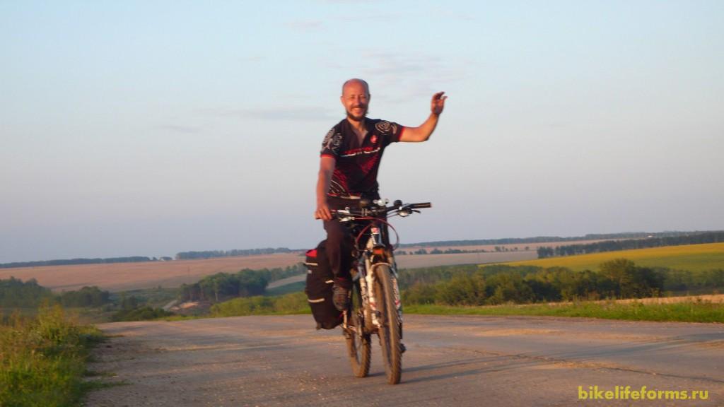 Ефремов на велосипеде