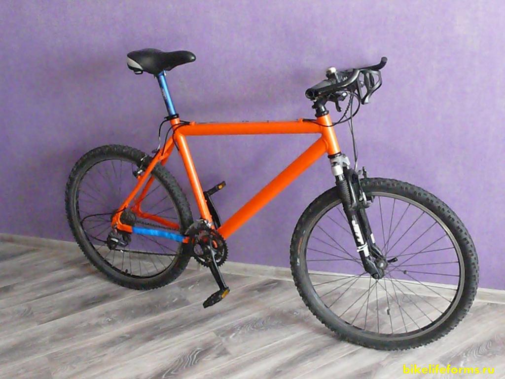 собранный велосипед
