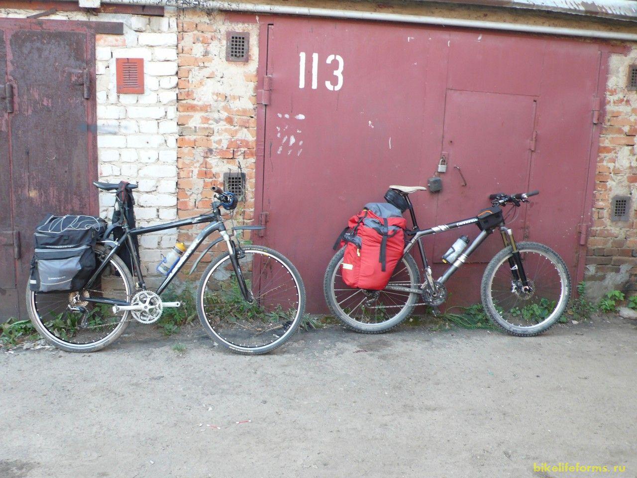 Миша встретил меня в 5 утра на вокзале, а спутся 4 часа, после установки вилки на велосипед Миши, которую я ему привез из Москвы, все уже было готово для начала нашего похода.