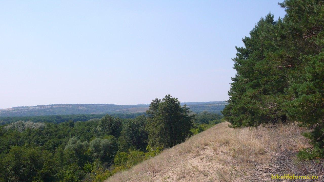 Вскоре лес расступился и нам открылся удивительный вид на всю округу.