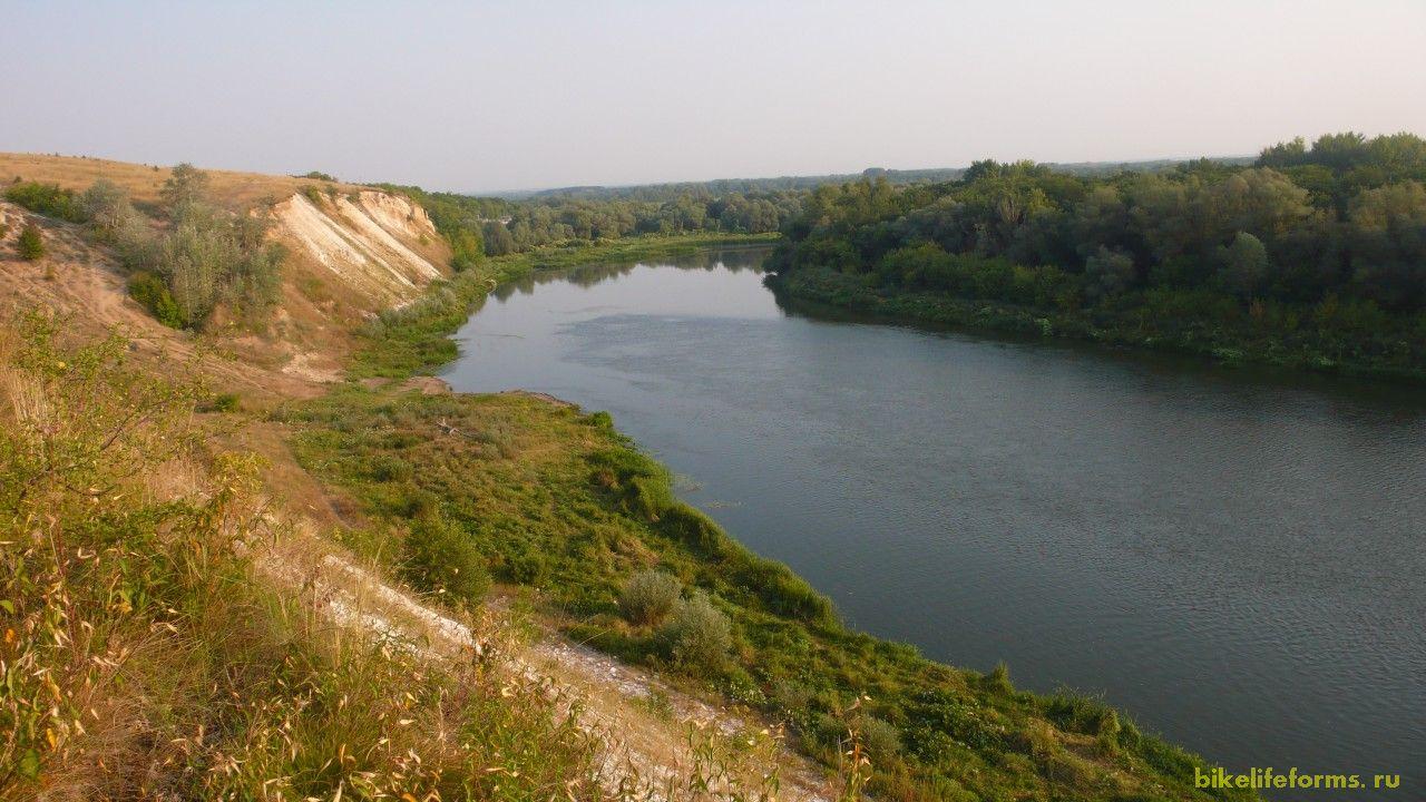 Вид с места ночевки на реку Дон.