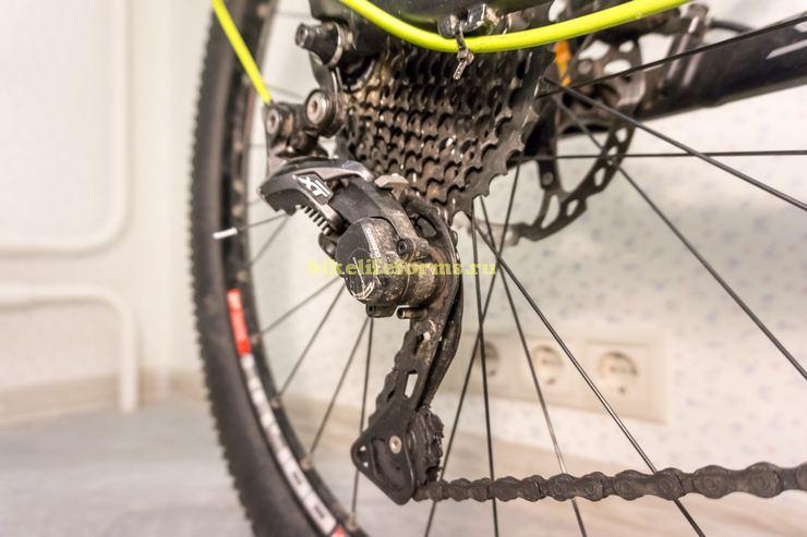 мойка переключателей велосипеда