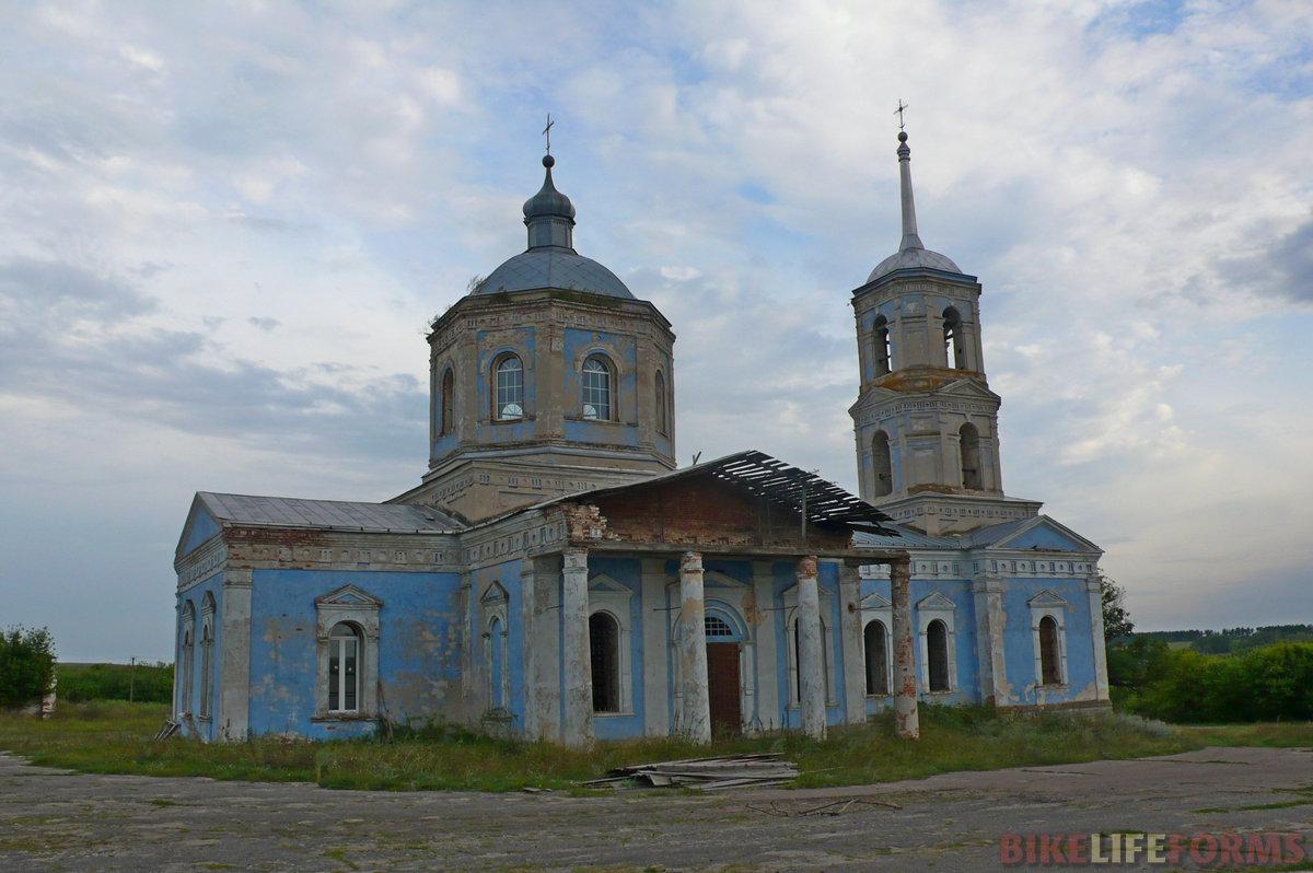 Казанская церковь в селе Владимировка. Основали ее переселенцыс высокого берега Дона, которые пасли здесь скот.