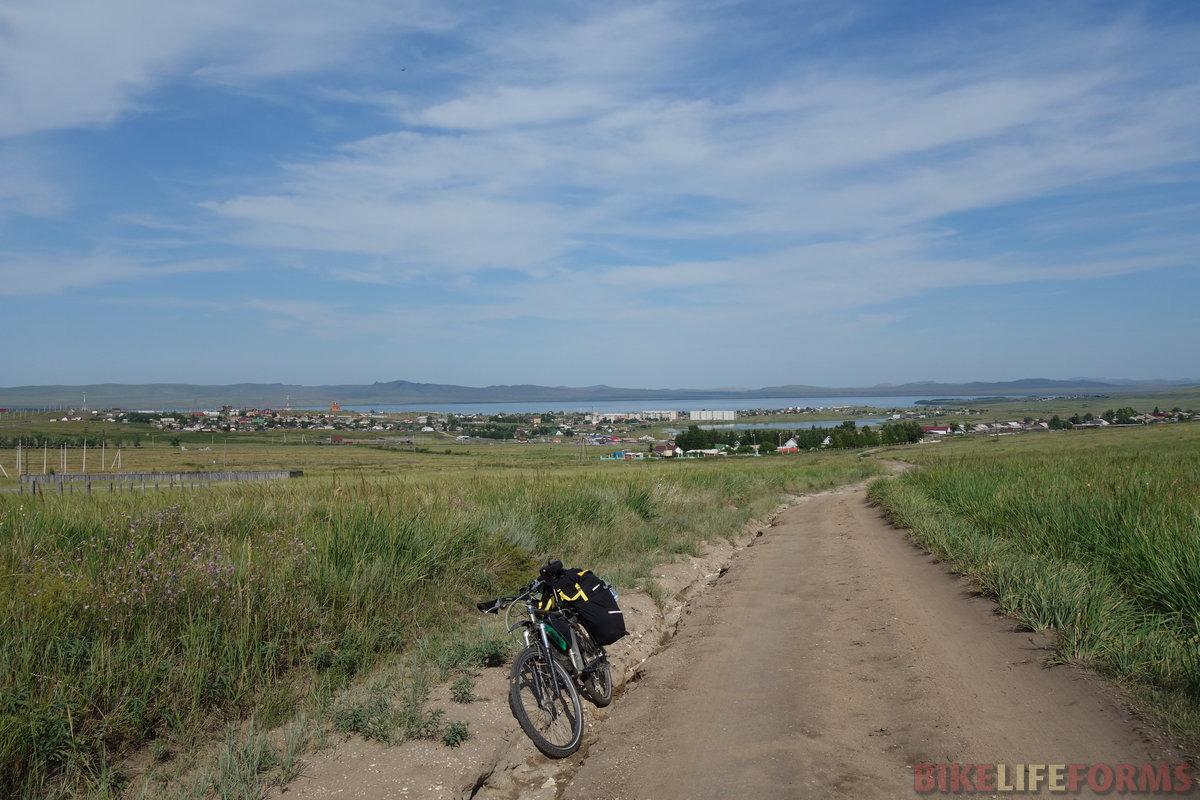 озеро Шира́ и поселок Жемчужный