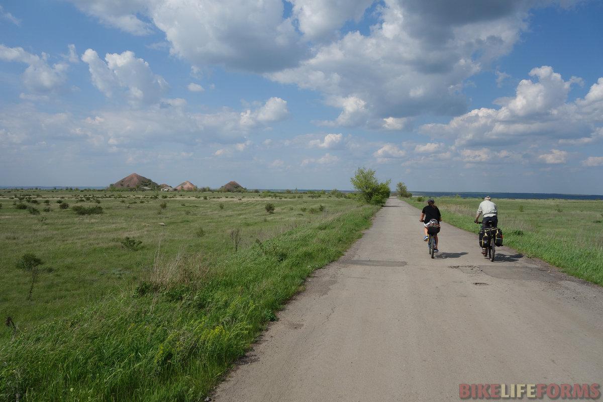конические отвалы, восточный край Донбасса