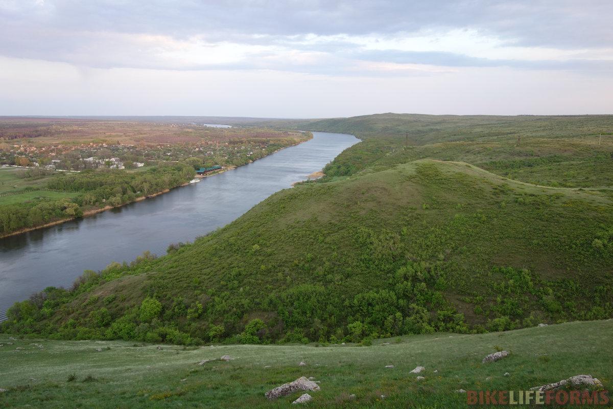 100 м над спокойными водами Донца
