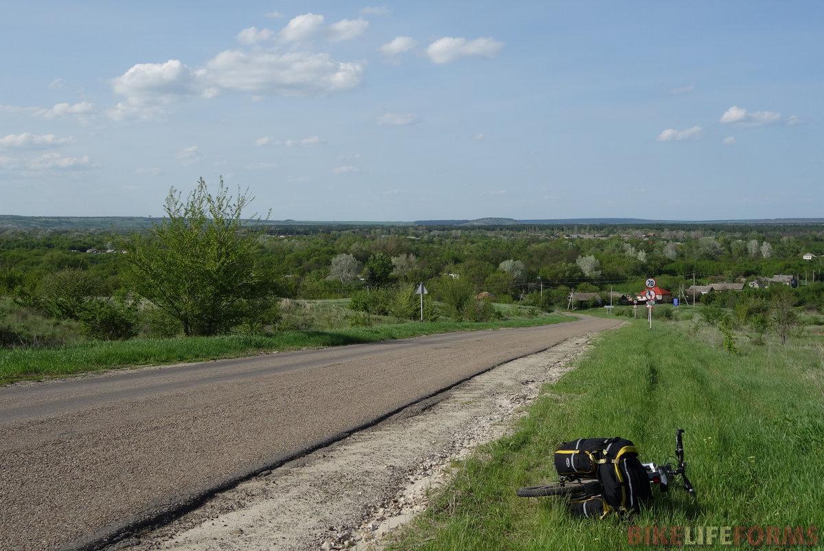 слобода Ефремо-Степановка. А вдалеке виден холм