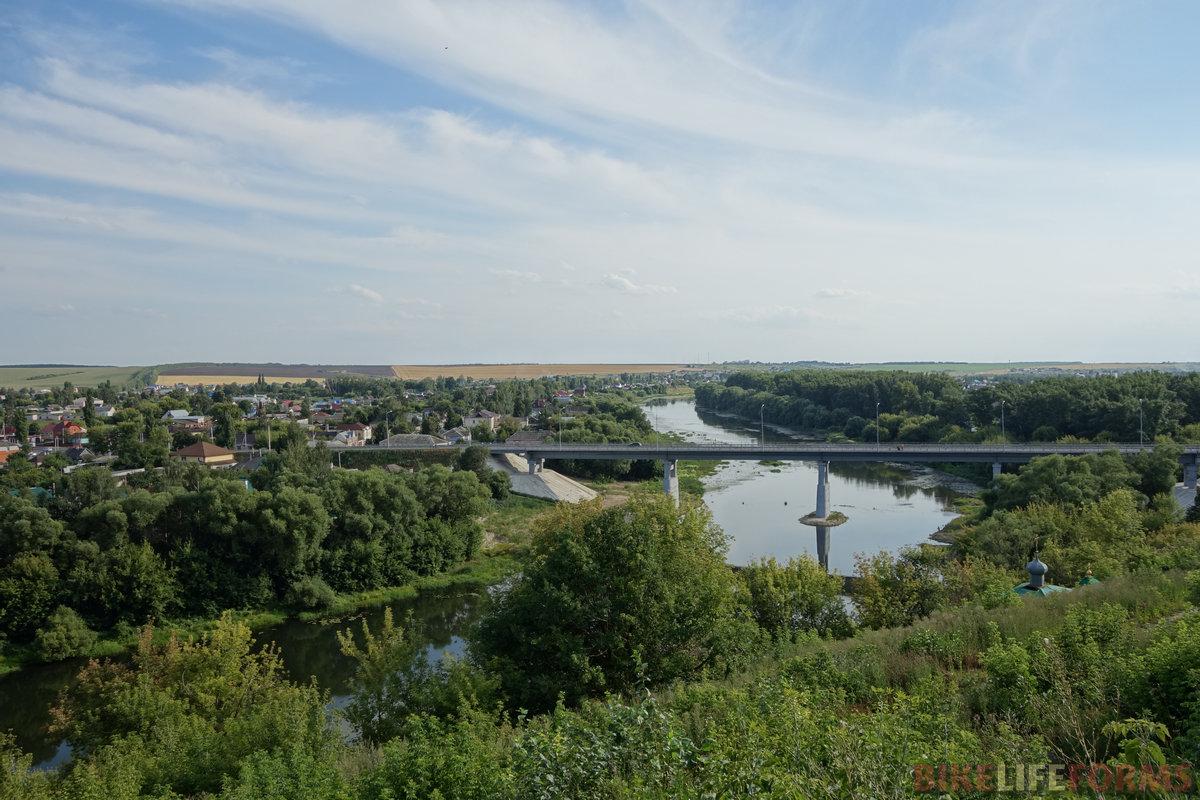 самое красивое в Ливнах - это вид на долину Сосны из городского парка