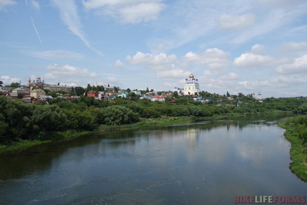 Елец. Быстрая Сосна. Вид на старую часть города