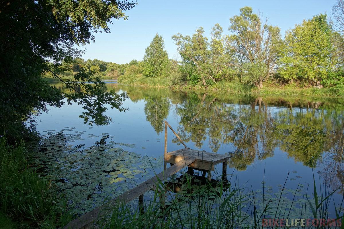 несмотря на еле-еле +20, искупался в реке ПольнОй Воронеж. Чистота - залог здоровья