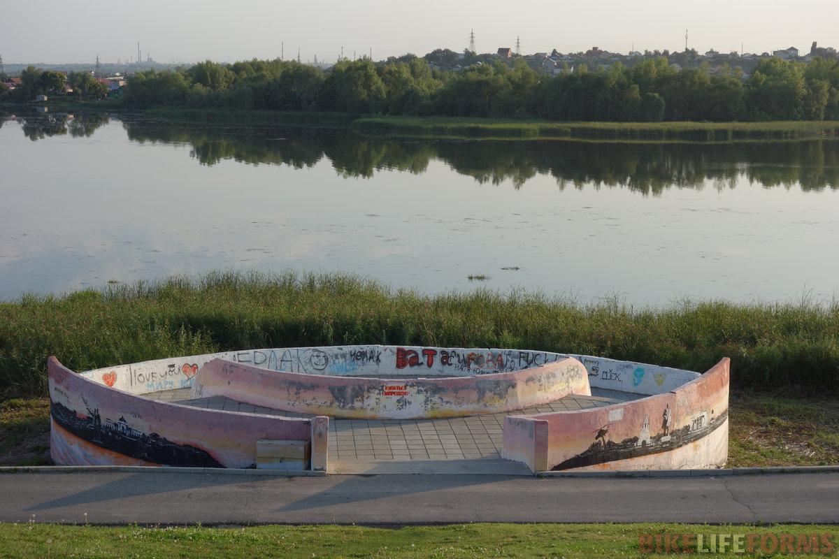 """""""благоухающая"""" река Сызранка. Прогулочная зона за кремлем. Это смотровая площадка!"""