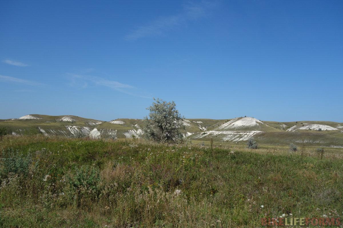 меловые холмы у села Тушна
