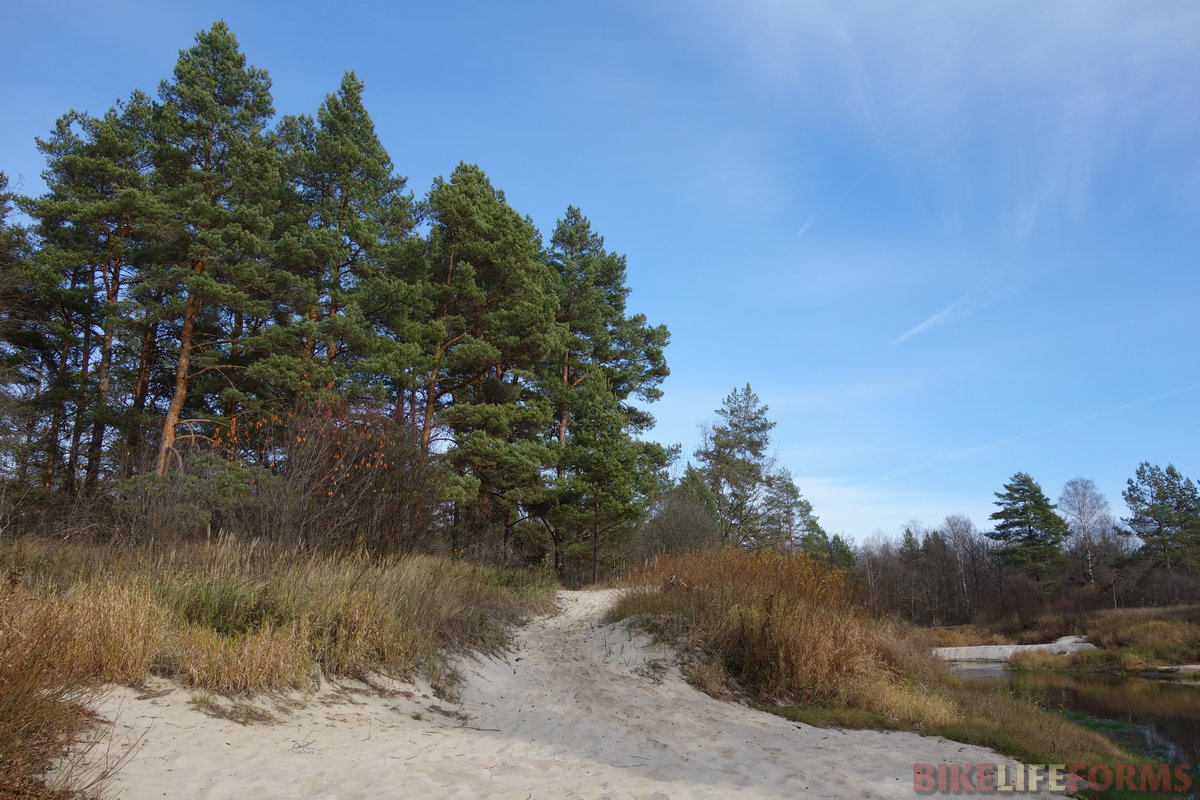 песчаный пляж, р. Рессета
