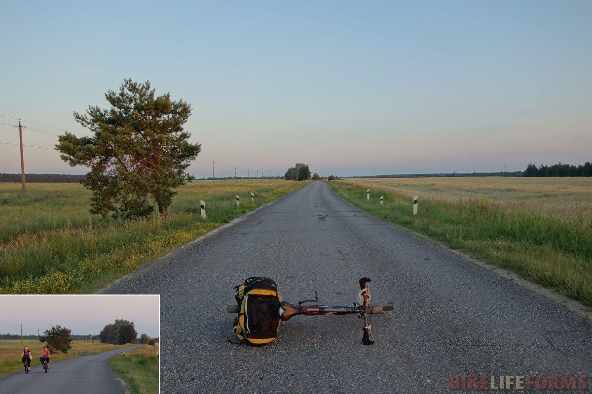 пустое шоссе в Новозыбков