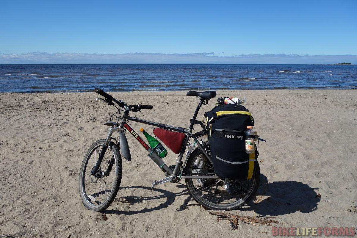 велосипед у Белого моря