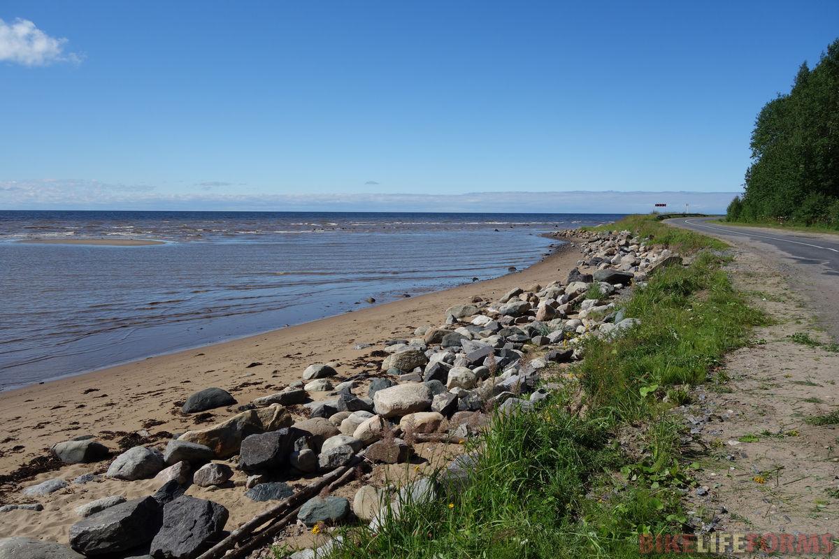 дорога берегом Белого моря