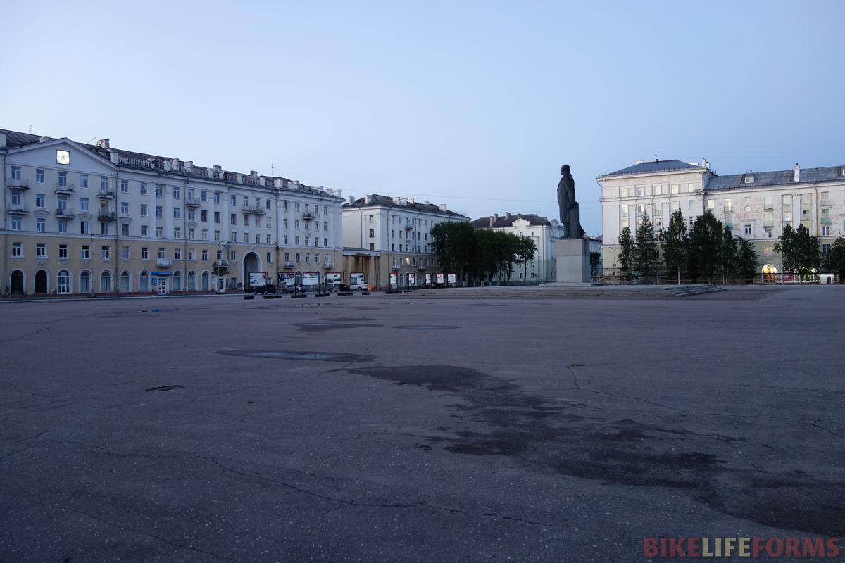 Северодвинск, белая ночь, площадь Победы
