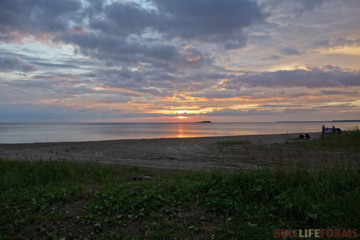 закат на Белом море
